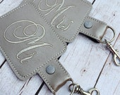 Mr and Mrs set of two luggage tags - wedding gift - honeymoon travel gift - wedding accessories - couple gift - bridal shower