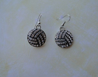 Volleyball Earrings with Bling - Free Shipping