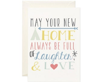 New Home gift card - house warming greeting card