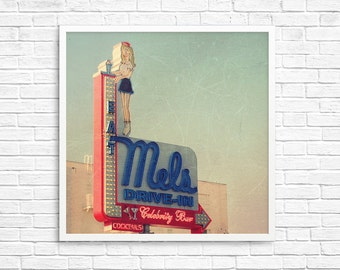 BUY 2 GET 1 FREE San Francisco Print, Wall Decor, Blue, Red, Vintage Inspired, California Print, Diner, Retro Sign, Wall Decor -Mel's