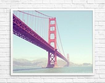 BUY 2 GET 1 FREE San Francisco Photography, California Art, Golden Gate Bridge, Bridge Photo, Landscape Photo, Ocean Print - A Golden Summer
