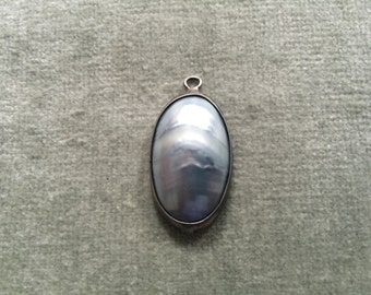 Pale Grey Blister Pearl Pendant
