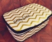 Metallic gold chevron baby wipes case gold diaper bag gold baby celebrity gift gold baby gift personalized baby gift gold bags