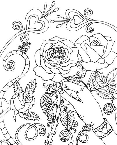 Evil Wolf Eye Coloring Pages Sketch Coloring Page