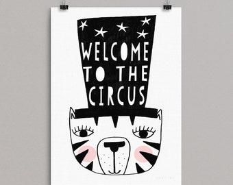 Circus Tiger 30 x 40 Print