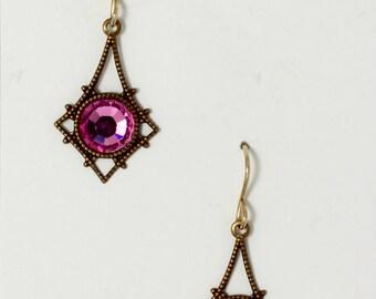 Rose pink Swarovski crystal