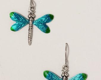 Enameled dragonflys