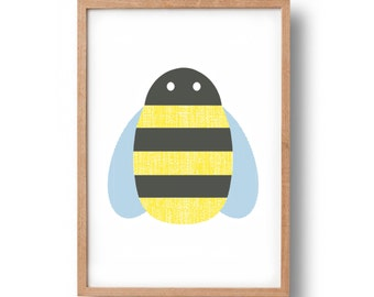 Screen Print - 'Bee'  Hand Pulled Screenprint