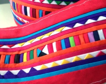 Lisu fabric, lisu textile, hmong Textile, red, Thai hill tribe, Hmong, Lisu, red, colorful, craft, quilt, graphic, bag, fabric, crafting
