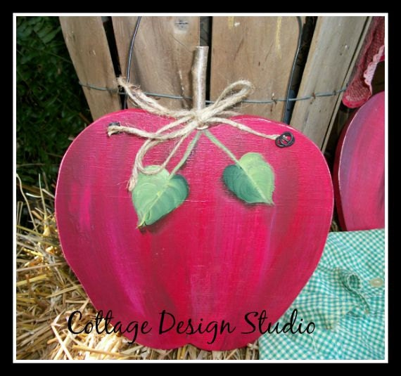 Apple kitchen decor apple decor country by cottagedesignstudio for Apple kitchen decoration