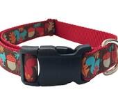 """Squirrel Dog Collar - 1"""" Squirrel Martingale"""