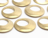 6 Raw Brass Pendant , Charms (18x2.2 Mm) Bs 1290