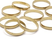 24 Raw Brass Ring Setting Hole size 17 mm Bs 1139