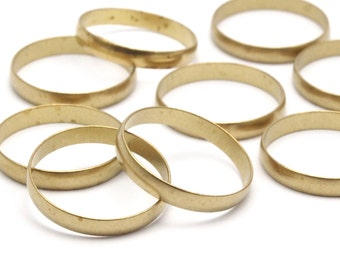 24 Raw Brass Ring Setting Hole Size 17 Mm Bs 1139--r014