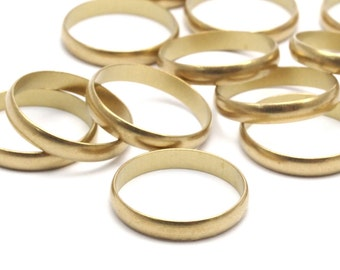 Brass Band Ring - 24 Raw Brass Ring Settings (16mm) Bs 1138--R013