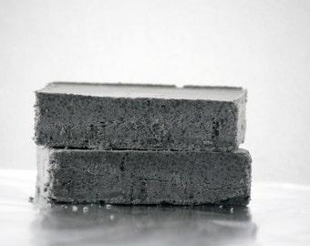 Black Lava Salt Soap - Natural Salt Soap - Aromatherapy Soap Bar