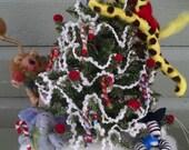 """Kingdom Christmas Felted Wool Figurine 15""""  Lighted Scene"""