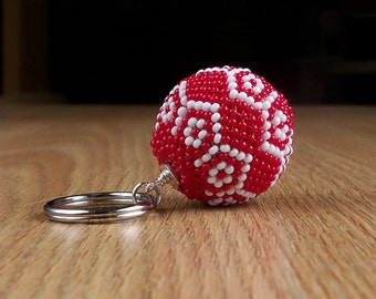 Key Chain - Red and White