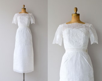 Donderry wedding gown | vintage 60s wedding dress | long 60s wedding gown