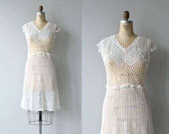 Antrea crochet dress | vintage 70s crochet dress | cotton crochet 1970s dress