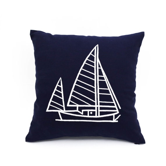 Throw Pillow Covers Nautical : Throw pillow covers Nautical throw pillows navy pillow