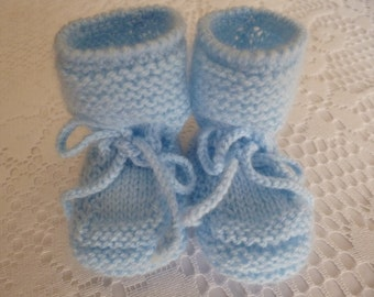 Knitted Baby Booties, Newborn Booties, Boy Booties,  Baby Boy Shoes, Newborn Shoes, Handmade Booties, Handknitted Booties.