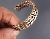 Celtic bracelet Torc Viking Copper Brass Traditional