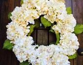 Hydrangea Fall Door Wreath floral wreath