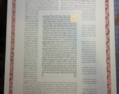 Talmud Page Ketubah - with illuminated border - hand lettered - calligraphy Hebrew and English