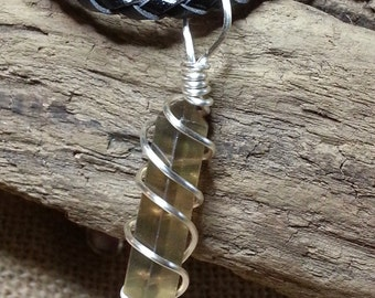 crystal pendant wire wrapped flourite