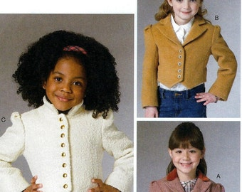GIRLS JACKET PATTERN / Vogue  / Fitted Jacket In Sizes 3 to 9 / School - Dress Clothes