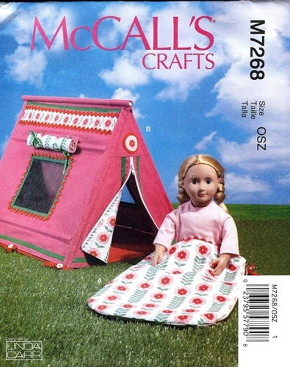 Free Crochet Pattern For American Girl Sleeping Bag : DOLL ACCESSORIES PATTERN / Make Tent and Sleeping Bag ...