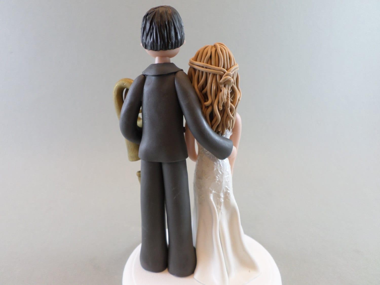 Bride & Groom Custom Made Music Theme Wedding Cake Topper ...