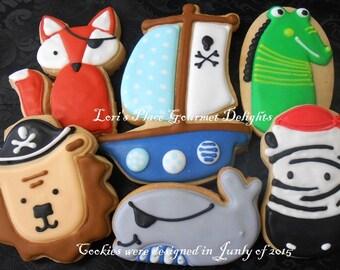 Pirate Baby Animal Cookies - 12 Cookies