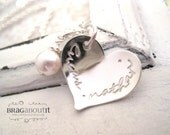 Hand Stamped Necklace . Hand Stamped Jewelry . Hand Stamped Personalized Jewelry . Brag About It . My Heart