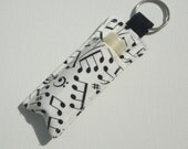 Chapstick Keychain,Lip Balm Key chain,Chapstick Holder,keychain,Lipbalm cover pouch,lipstick pouch Keychain - Making Music