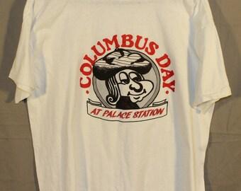 Vintage Columbus at Palace Station Las Vegas Tee Shirt, 1970's to 1980's Era