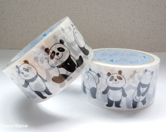 "Wide Packing Tape / Deco Tape 4.8cm wide x 25m (1.9"" x 27 yards) - Dancing Panda  - 1 PC"