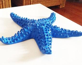 Giant Starfish Room Decor, Large Metal Mantel Statue/Figurine