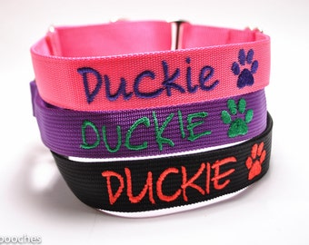 Personalized Custom Martingale Dog Collar with Image