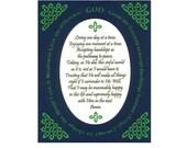 Serenity Prayer Long Version Inspirational Art Celtic Knot border Wall Art Paper Cut Border Design 8X10 Unframed