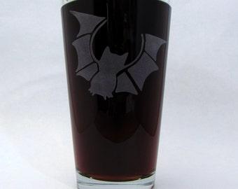 Bat | Etched Glassware (Pint)