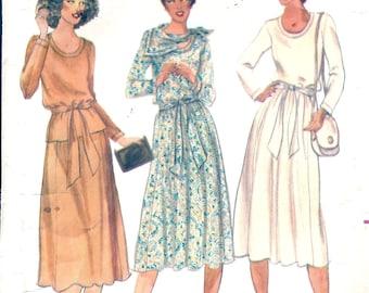 1970s Dress - 1970s Dress Sewing Pattern - 70s Top Skirt Pattern -Butterick 6093 - Vintage Sewing Patterns - Retro Patterns - Matti of Lynn