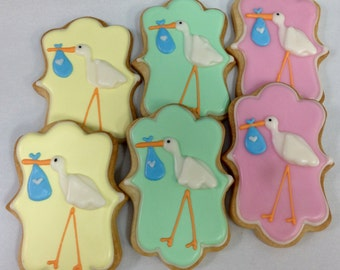 SPECIAL DELIVERY STORK Sugar Cookie Party Favors, 1 Dozen