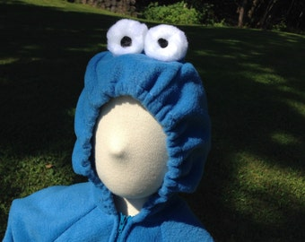 Custom Blue Monster Costume
