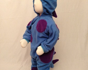 CLEARANCE SALE Child Size 2T/3 Blue Monster with Purple Spots Costume For Halloween or Playtime