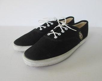 Black Canvas Keds Shoes  6