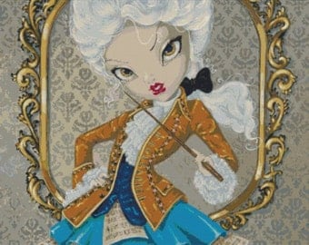Cross Stitch Kit 'Queen Amadeus' By Simona Candini Fantasy Counted CrossStitch