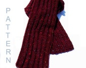 Easy Ribbed Crochet Scarf Pattern