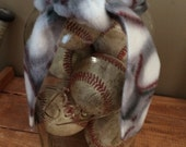 Large Ball Jar with Old Baseball's for Boys Room! Decoration Boys Room! Baseball! Neat!! Vintage!